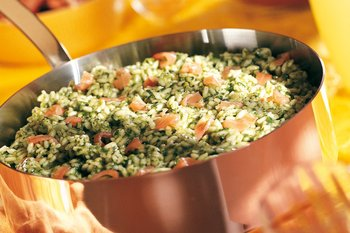 Spinat-Lachs-Risotto